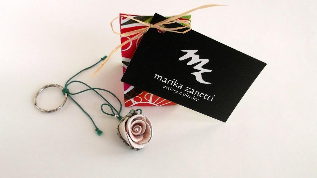 #portachiave #rosa #handmade #pastadimais