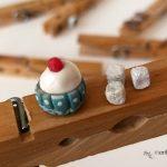 molletta di legno decorata - Zucchero