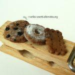molletta di legno decorata - Biscotti