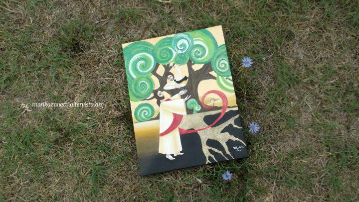 Zaccheo e il Sicomoro, Marika Zanetti, olio su tela 30x40