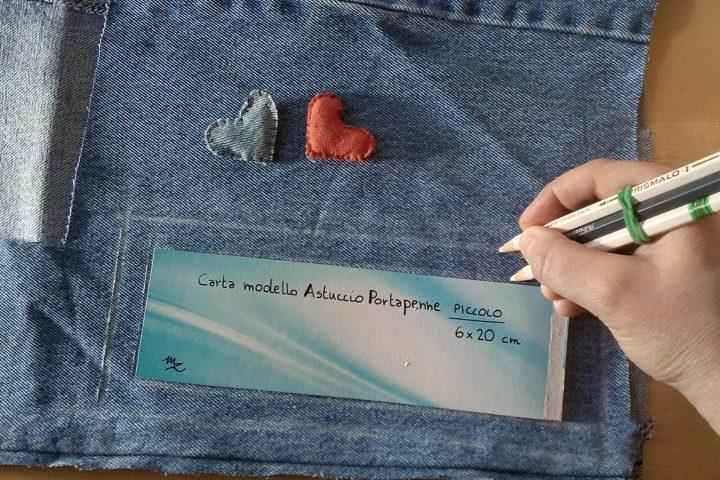 pochette di jeans
