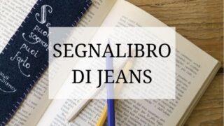 segnalibro con scritta in jeans