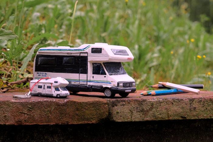 Camper in miniatura modellismo Arca America (8)