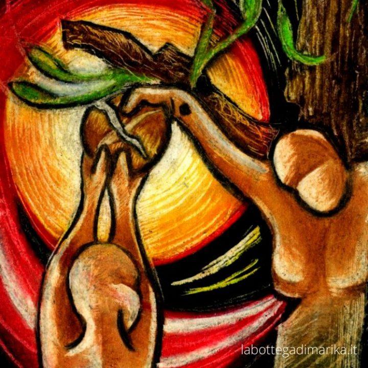 croce albero e pane della vita