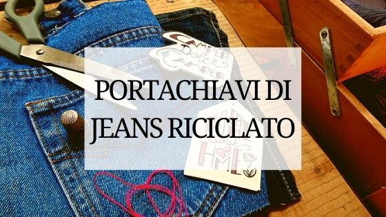 portachiavi jeans fai da te
