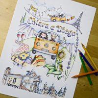 Illustrazione personalizzata coppia viaggio camper (26)