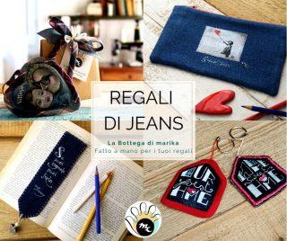 Idee Regalo jeans dipinti a mano